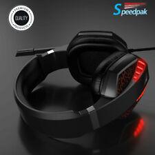 Gamer Gaming Headset Micrófono De Sonido Envolvente Auriculares Graves Estéreo para PS4/XBOX One/PC mucho