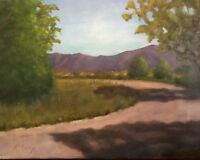"Original one of a kind oil painting 11"" x 14""  Around the bend landscape"