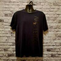 ARC'TERYX Mens T-Shirt Sz XL Black Short Sleeve 100% Cotton Crew Neck Front Logo