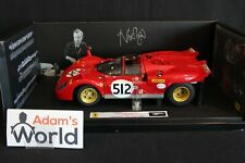 "Hot Wheels Elite Ferrari 512 S 1:18 #512 ""Nick Mason (Pink Floyd)"" (PJBB)"