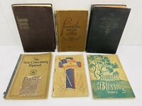 VINTAGE HYMNALS Lot of 6 Hymn Song Books 1930s .... cokesbury service american