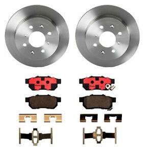 Brembo Rear Brake Kit Ceramic Pads Disc Rotors 4 Lugs For Integra Civic Del Sol