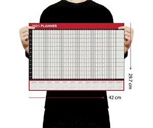2021 A3 Size Full Year Wall Planner Calendar Home Office Work JAN - DEC