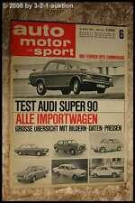 AMS Auto Motor Sport 6/67 Audi Super 90 NSU TTS Opel Commodore