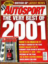 Autosport 20/12/2001* 2001 F1 REVIEW - 50 BEST DRIVERS EVER -ROSSI GOES RALLYING
