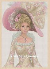 Cross Stitch Chart ELEGANT LADY in Butterflies Dress - No.1-156s (Large Print)