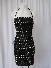 * BEBE * BLACK tube DRESS WITH studs sz XS- NWT $249