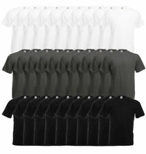 Einfarbige bequem sitzende Herren-T-Shirts mit Rundhals-Ausschnitt