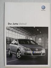 Prospekt Volkswagen VW Jetta United, 11.2008, 24 Seiten