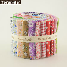 Cotton Fabric Jelly Rolls Strip TERAMILA 84PCS/ Lot 9CMx50CM Patchwork Quilting