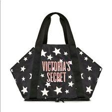 Victoria's Secret Black Logo Stars Packable Weekender Tote Bag