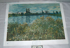 "1945 Claude Monet 33"" X 26"" Banks Of The Seine, Vetheuil Oil On Canvas Art Print"