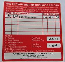 COMMISSIONING AND 1ST YEAR SERVICING OF FIRE EXTINGUISHERS