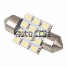 Blanco SMD LED 31mm 12 SMD Festoon Bombilla LED Interior 12v