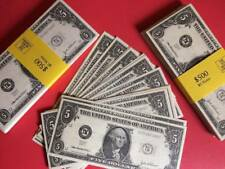 100 x $5 NOVELTY DOLLARS - Fake USA U.S Play Money Fun Pretend Prop * FROM UK