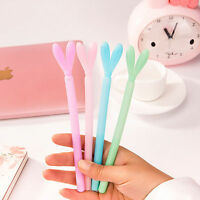6Pcs Lovely Cute Cartoon Creative Rabbit EarBall Pen School Supplies Stationery