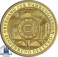 Deutschland 100 Euro Goldmünze Währungsunion 2002 Stempelglanz 1/2 Oz Gold Mzz J