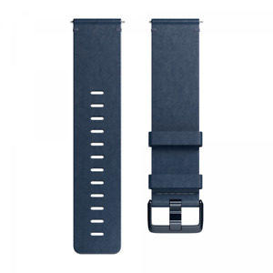 Fitbit Versa Leather Large Unisex Band in Midnight Blue RF5290