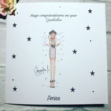 Personalised Congratulations on your graduation handmade card for girls/ women