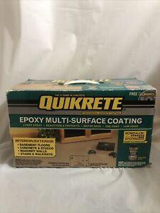 Quikrete 1 Gallon Kit  Epoxy garage floor coating tan semi gloss