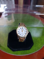 ladies constant gold tone bracelet watch,white dial with date window,b1.