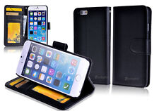 "BLACK Premium New Wallet Leather Case Cover For 4.7"" iPhone 6"