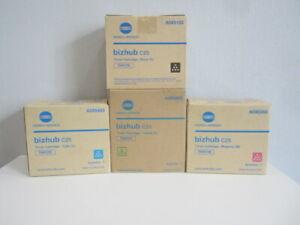 Original Konica Minolta Toner Set TNP27 K,Y,M,C für bizhub C25 Neu & OVP