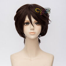 Anime Day of the Dead Bungo Stray Dogs Dazai Osamu Dark Brown Party Wig Cosplay