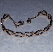 316 STAINLESS STEEL ROSE GOLD PLATED  HEART BRACELET BANGLE ADJUSTABLE