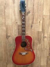 Años 70 Roseta Laramie acústica de 12 Cuerdas Guitarra Gibson Hummingbird