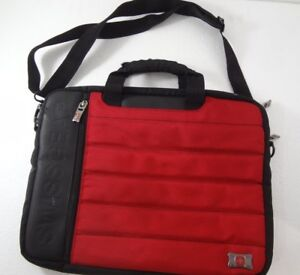 """Swissgear Wenger 15"""" Laptop Tablet Sleeve Notebook Carrying Case Red & Black"""