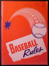 1953 NATIONAL FEDERATION BASEBALL RULES BOOKLET!