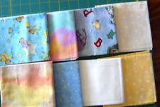 Lot 21, (8) Cotton Fat Quarters Stars/ Baby Bears/ Animals, Yellow/Blue/Cream