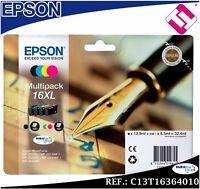 PACK TINTA T1626 T16XL ORIGINAL PARA IMPRESORAS EPSON CARTUCHO 4 COLORES GENUINE