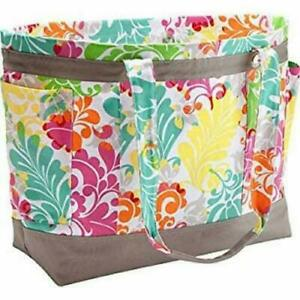 Thirty one beach easy breezy large tote shoulder bag 31 gift in Island Damask