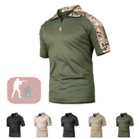 Mens Military Shirts Tactical Combat T-Shirt Army Quick Dry Hiking Casual Shirt