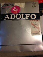 Very exiting! Vintage Two pair of Adolfo cameo white pantyhose size b
