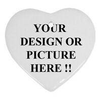 Personalized Custom Your Logo Design Photo Text Ornament (Heart)