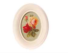 Sass & Belle Small Antique Oval Creme Photo Picture Frame Shabby Chic Vintage