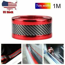 Car Sticker Carbon Fiber Door Sill Edge Guard Protector DIY Strip 7cm*100cm Red