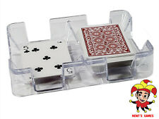 Clear Plastic Cardian Playing Card Tray or Caddy - Non-Swivel - MADE IN USA