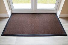 BEST Commercial Brush Entrance Mat Brown Rubber Edge 100cm x 200cm UK Floor Mat