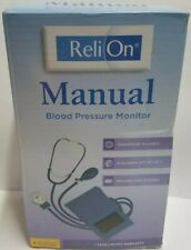 ReliOn Manual Blood Pressure Monitor Cuff With Stethoscope