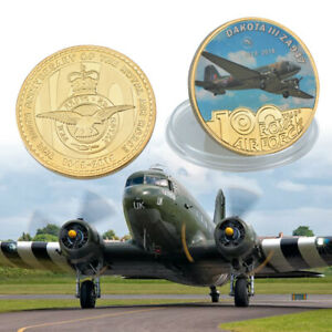 WR Gold ZA947 Coin Fighter 100th Anniversary Of The Royal Air Commemorative Gift