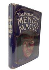 HANDBOOK OF MENTAL MAGIC By Marvin Kaye