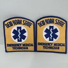 New York State EMT Emergency Medical Technician DARK GOLD 2 PATCHES NYS NY