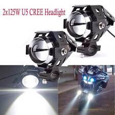 2 x CREE Motorbike Light U5 LED 125W Motorcycle Driving Headlight Spot Light ALT