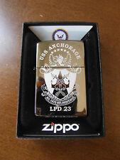 USS Anchorage (LPD-23) Zippo MIB Authentic Officers Lighter Nil Fato Relinquemus