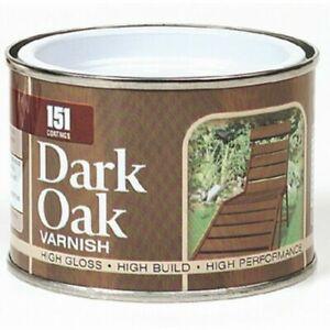 DARK OAK Gloss Varnish Wood PAINT Decorating Indoor Outdoor Top Coat 180 ml