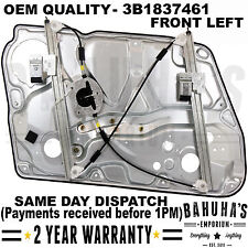 Vw Pat B5 Skoda Superb Front Left Side Window Regulator With Panel 1996 2008